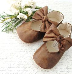 Brown Baby Shoes Girl Infant Girl Shoes Toddler Girl Shoes Soft Sole Shoes Summer Shoes Brown Shoes Faux Leather Shoes- Hazel by BitsyBlossom on Etsy https://www.etsy.com/listing/179366811/brown-baby-shoes-girl-infant-girl-shoes