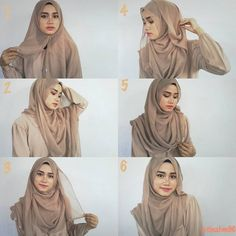 This is a quick and easy pin back hijab look, it looks stylish and beautiful, with a full chest coverage and a gorgeous side effect. With no further here are the steps to this look: 1. Place the hijab on…