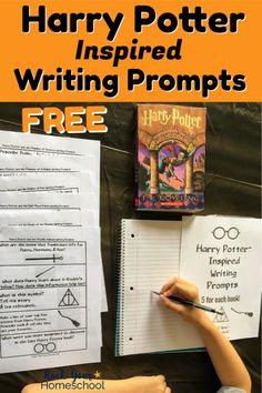 Have magical writing fun with these free Harry Potter-Inspired writing prompts for each book!