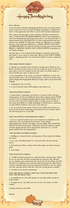 Some thorough #Thanksgiving directives.  LOL  AFP Hall of Fame « AwkwardFamilyPhotos.com