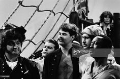 John Belushi as Captain Ned, Dan Aykroyd as Mr. Spunk, Garrett Morris as Hodo during the 'Miles Cowperthwaite' skit on May 12, 1979 - Photo by:
