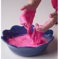 Gobbledygook -so much fun!    1/2 cup Argo® Corn Starch  1/4 cup water  Food coloring (optional)