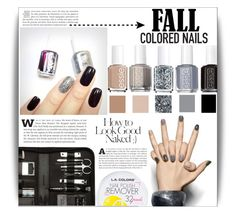 """Fall manicure"" by dolly-valkyrie ❤ liked on Polyvore featuring beauty, Essie, Deborah Lippmann, Industrie, Fall, manicure and fallmanicure"