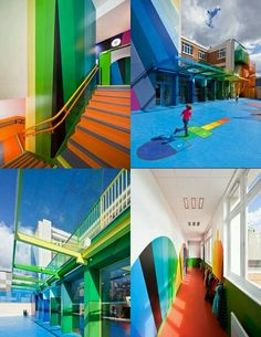 The Ecole Maternelle Pajol Kindergarten school in Paris, France is a newly renovated building by Palatre et Leclere architecture firm.