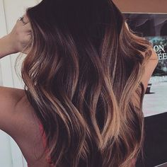 This colour thoughhhh! So gorgeous . Perfect chocolatey strands via @stylebycarolyn. If this mane all your hair goals in one pic, ensure you keep your strands super strong with weekly #HelloHair mask applications.   #sundayhaircrush #hairgamestrong #hairinspo #hairgoals #hairposts #maneenvy