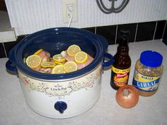 Practically Virtuous: Lemon CrockPot Chicken Recipe