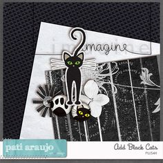 Welcome to the November Designer's Element Challenge hosted by myself Pati, my first Challenge (Pati Araujo Art Design).I have a pretty mini for you this month which is an add on to my Black Cats Kit. Please post your layout in the Designer Elements GALLERY.The rules of the Designer Elements are simple: scrap a layout! You can use just the Add Black Cats Kit or you can include pieces from the Black Cats if you wish. Upload your layout to the Designer Elements gallery and post a link