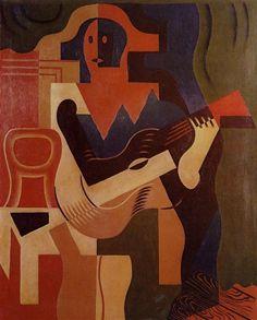 Harlequin+with+Guitar,+1919+-+Juan+Gris