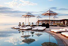 Celebs love the waterfront infinity pool at Las Ventanas al Paraiso, Los Cabos, Mexico