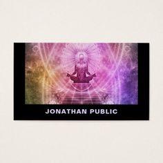 Yoga Lessons Yoga Instructor Professional Design Business Card - yoga health design namaste mind body spirit