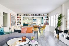 Tour an Eclectic 96-Year-Old Bungalow Boasting a Bold Blue Kitchen