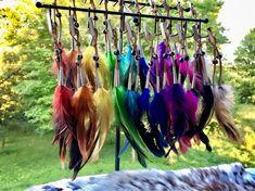 Feather Hair Clips Buffalo Bone Beads Horse Mane Feathers | Etsy Large Feathers, White Feathers, Bikini T Shirt, Native American Hair, Horse Mane, Feather Hair Clips, One Hair, Feathered Hairstyles, How To Make Hair