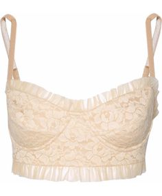 What a pretty lace bralette! Love the delicate ruffles detail!