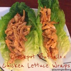 Healthy Crockpot Buffalo Chicken Lettuce Wrap Recipe....tried these out last night.....BIG HIT!