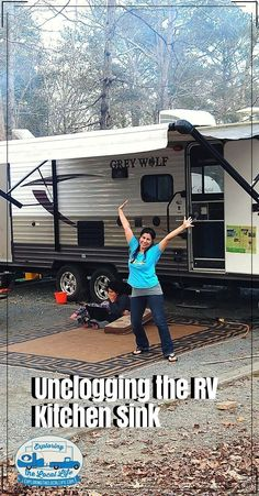 Two years of RV living did a number on our RV kitchen sink. Find out how we were able to unclogged our sink. Travel Hack, Rv Travel, Travel Trailers, Travel Tips, Rv Camping, Camping Hacks, Glamping, Rv Organization, Organizing