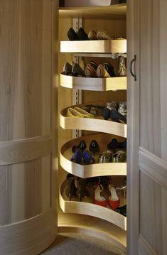 38 The Best Corner Wardrobe Interior Design # Design Shoe Storage Tower, Front Door Shoe Storage, Entryway Shoe Storage, Corner Storage, Wardrobe Storage, Bedroom Storage, Diy Storage, Closet Storage, Storage Spaces