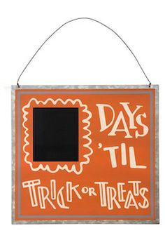 Cute countdown till trick or treats sign