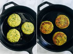Turmeric Falafel Burgers- a healthier version of falafel made withground turmeric for an anti-inflammatory boost. Each burger has 10 grams of protein! (vegan, gluten-free + grain-free)