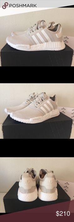 ADIDAS NMD R1 TALC/OFF WHITE SIZE US8 100% Authentic! Receipt upon request. adidas Shoes Sneakers