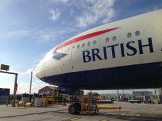 Heathrow Airport in London~ Heathrow Airport, British Airways, Spacecraft, Airplanes, Britain, Aviation, Aircraft, English, London