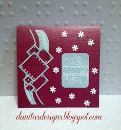 Sympathy Card Spellbinders Contemporary Diamonds die