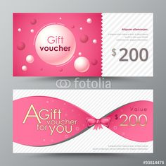 Vector: Gift voucher template. promotion card, Coupon design. vector sto