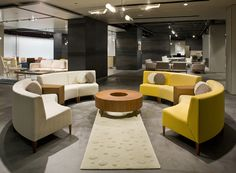 Circa Modular seating is available in inner, outer, and straight, modular seating