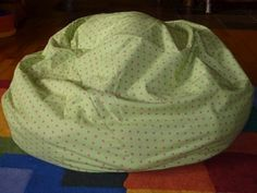 Green / Pink Polka Dot Bean Bag Cover by CopperBugCompany on Etsy, $50.00