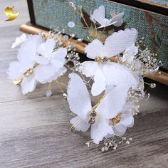 China factory handmade bridal hair accessories hair jewelry with barrettes