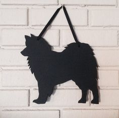 Samoyed Handmade Chalkboard Wall Hanging by CountryShadows