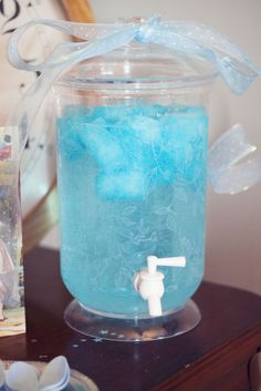 Sprite with frozen blue Hawaiian punch - this just sounds sooo yummy right now!