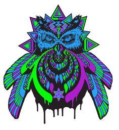http://blinkreder.deviantart.com/art/Bass-Owl-v2-Bassnectar-Tribute-478205553