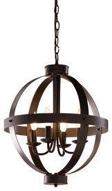 allen + roth Bronze Pendant Light - mediterranean - chandeliers - Lowe's