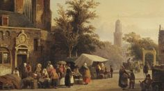 Schilderij 'Gezicht op Zwolle' van Cornelis Springer