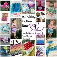 MNE Crafts: Cotton Crochet Round Up - 15+ Free Patterns ✿⊱╮Teresa Restegui http://www.pinterest.com/teretegui/✿⊱╮