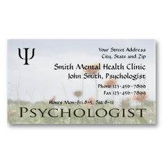 Mental Health Business Card