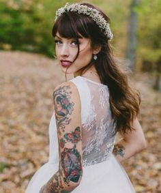 10 Beautiful Tattooed Brides Who Refused To Cover Up Their Ink #refinery29  http://www.refinery29.com/brides-with-tattoos-interview-photos