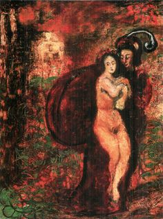 Gulácsy, Lajos - The Garden of Don Juan, 1910 Art Nouveau, Research Images, Don Juan, Erotica, Garden, Minne, Template, Paintings, Oil