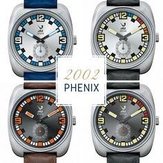 Montre vintage 2002 PHENIX - 4 coloris - pour homme - Boutique Officielle JAZ - un savoir-faire horloger made in France depuis 1919.