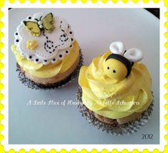 Bumble Bee and Butterfly Cupcakes