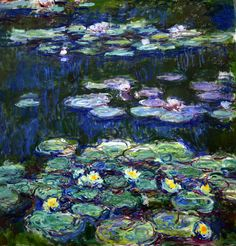 Claude Monet - Nympheas blancs et jaunes, 1917 at Kunstmuseum Winterthur Switzerland (by mbell1975)