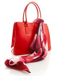 Talbots Bag & Floral Heart Scarf