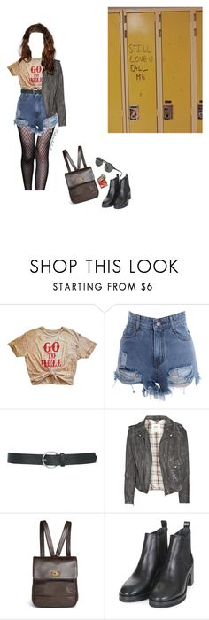 """""""go to hell"""" by melancholiah ❤ liked on Polyvore featuring Andrew Gn, Love Quotes Scarves, M&Co, M.i.h Jeans, Chanel, Topshop and Giorgio Armani"""