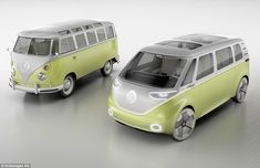 The design is based on the 1950s original, including two-tone paint and the oversized VW...