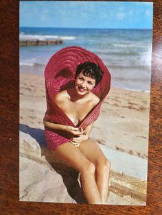 "Vintage Pin Up Girl Postcard - ""Sweet Rosemarie"" - Unused Ephemera - Perfect Framed for Mancave! Vintage Labels, Vintage Postcards, American Slang Words, 1950s Pin Up, Pin Up Models, Lazy Sunday, Color Card, Popular Culture, Vintage Advertisements"