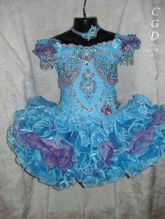 Little Girls Pageant Dresses 2016 Rhinestones Beaded Handmade ...