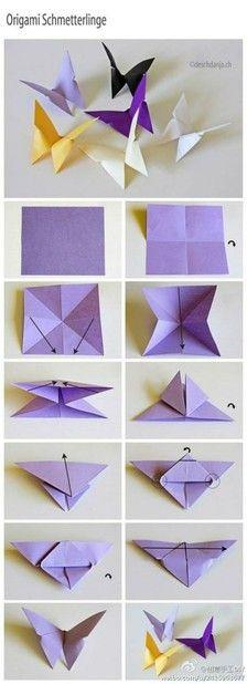 mariposas de origamis