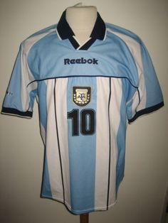 Argentina-MARADONA-football-shirt-soccer-jersey-voetbal-camiseta-trikot-size-XL