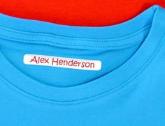Regular Tags Clothing Labels - Personalise clothing labels online