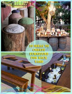 10 ideas to create furniture for back yard